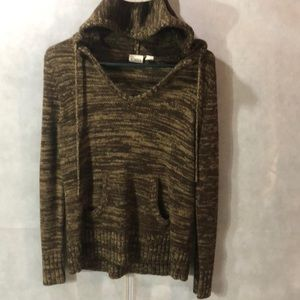 Brown hooded sweater